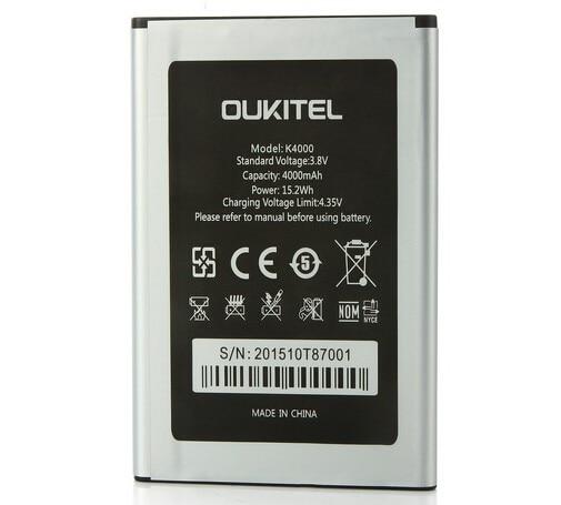 Новая батарея Oukitel K4000, оригинал, высокое качество, 4000 мАч, замена батареи для смартфона Oukitel K4000