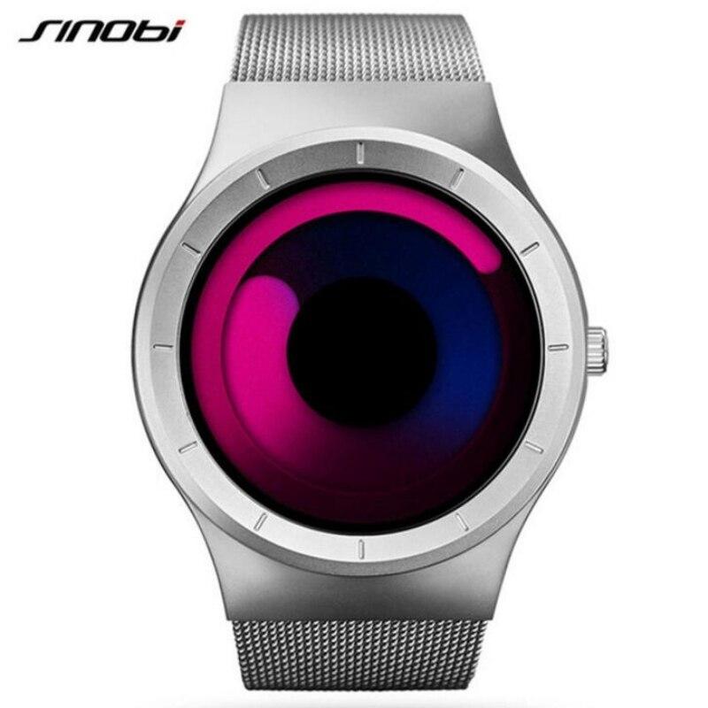 Reloj para hombre SINOBI, de lujo, creativo, a la moda, Aurora, reloj para hombre