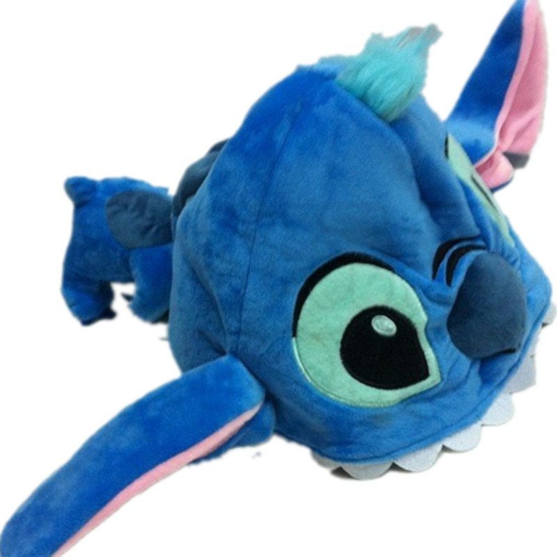 Cálidos gorros de invierno protectores de orejas para niños adultos dibujos animados pelo bonito pato cerdo ojo grande Mike Tigre Stitch oso gorros