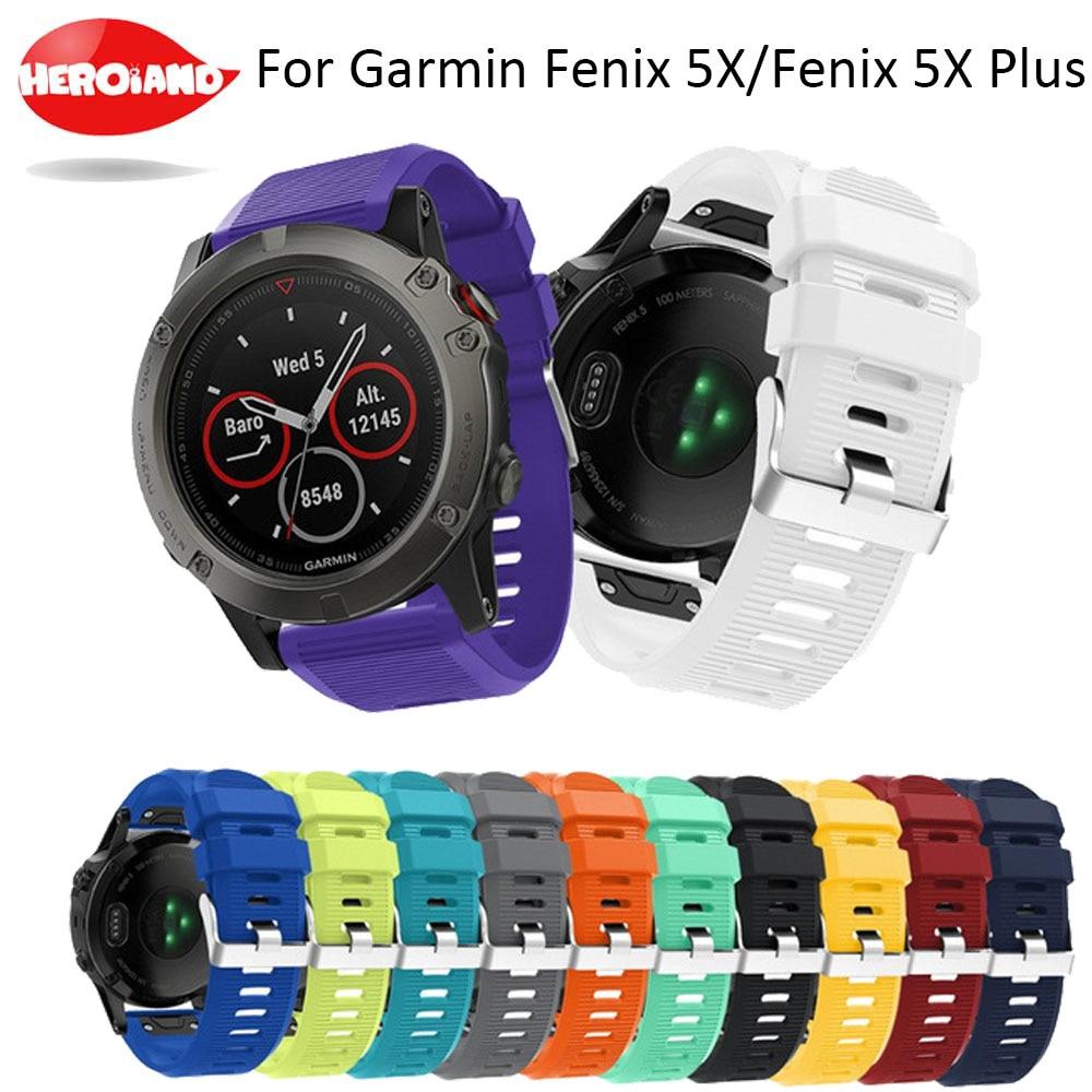 Correa de reloj de 26mm para Garmin Fenix 3, correa de muñeca de silicona de liberación rápida y fácil ajuste para Garmin Fenix 5 X/5X Plus