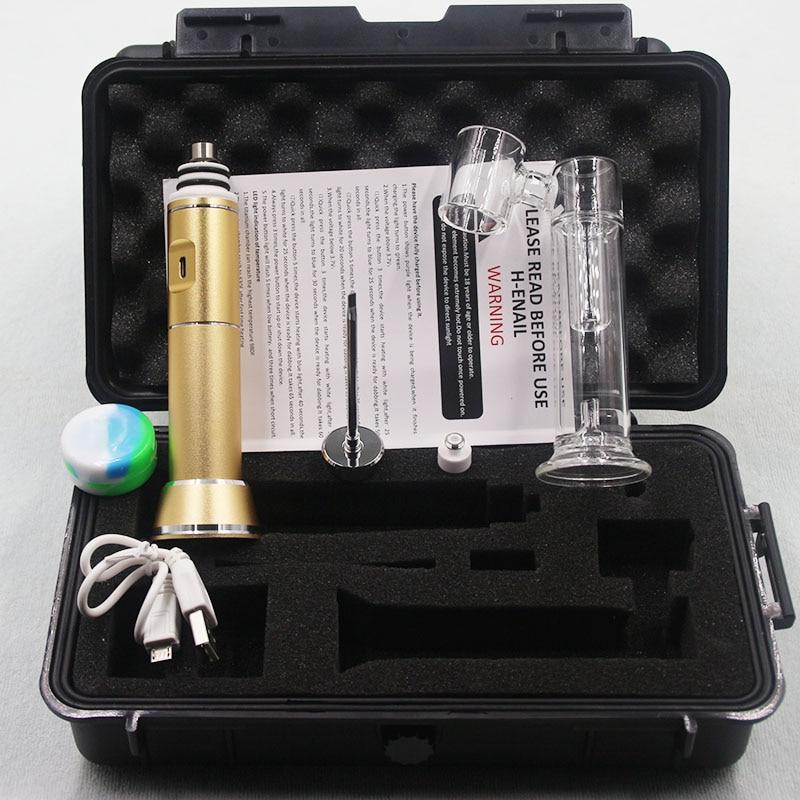 Professional HEnail most portable electronic henails g9 Henail h-enail with titanium nail water glass pipe enlarge