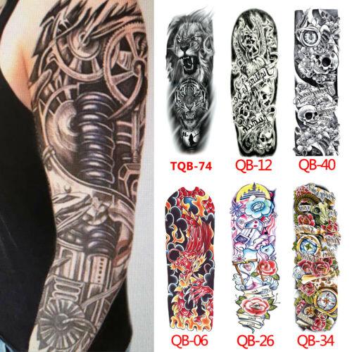 Hot Sales Full Arm Temporary Tattoo Sticker Skull Flower Dragon Eye Animal Waterproof Fake Sleeve Flash Tattoo For Men Woman