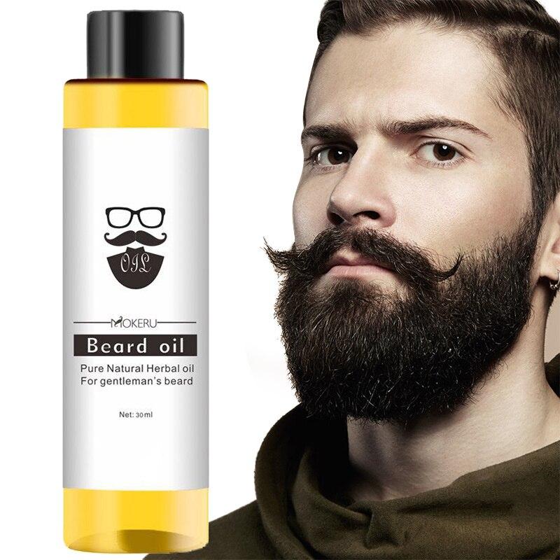 Mokeru hombres Natural orgánico estilo aceite para bigote hidratante suavizante Dashing barba para caballero aceite cara cuidado del cabello TSLM1
