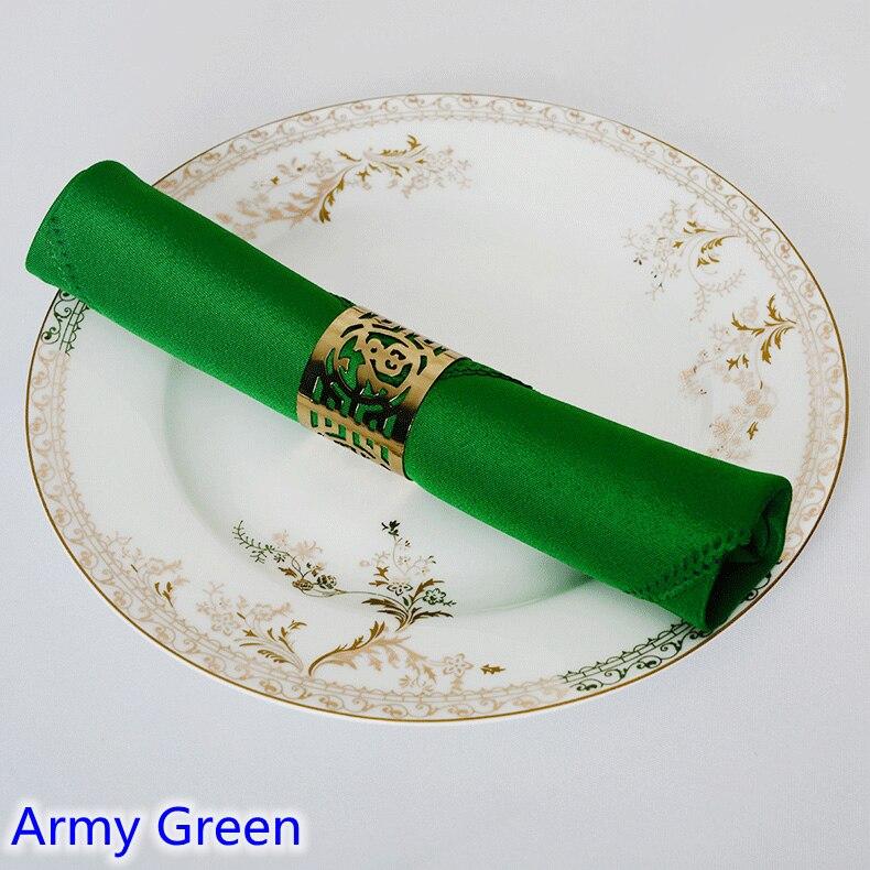 Армейская зеленая цветная настольная салфетка простая Полиэстеровая салфетка для свадебного отеля и украшение стола ресторана устойчивая...