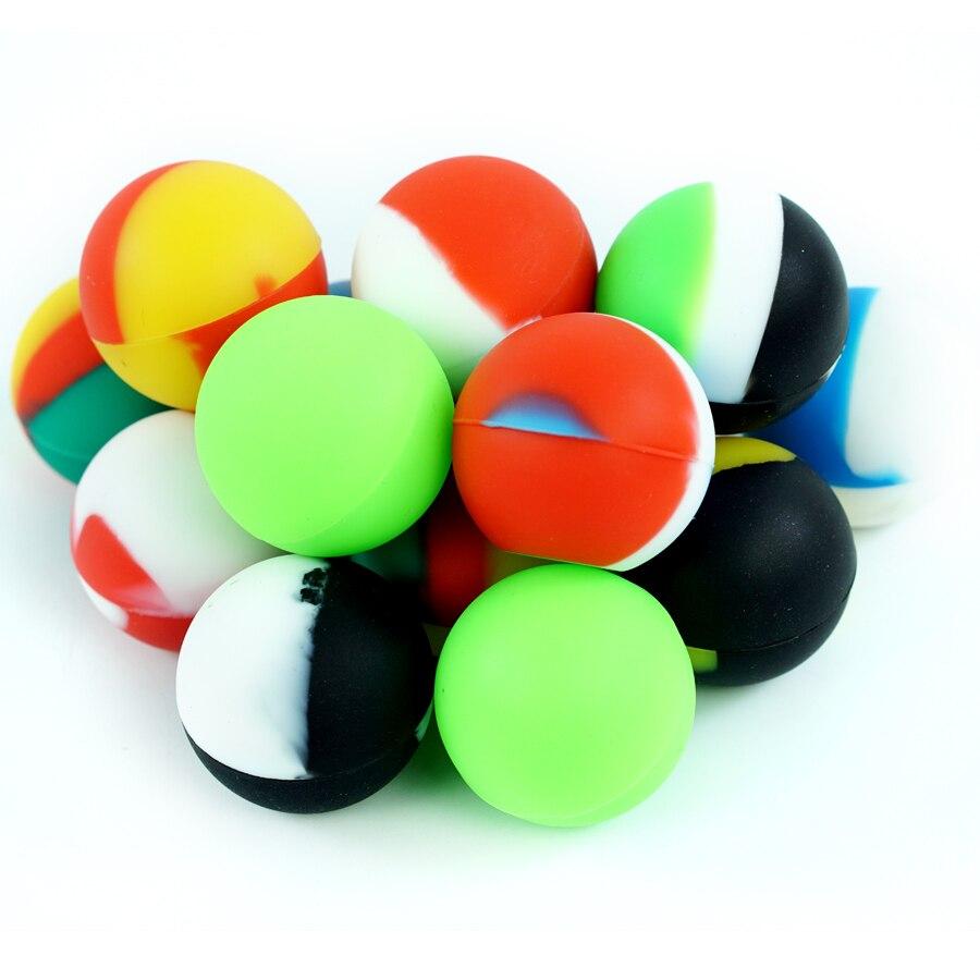 5 uds Bola de silicona antiadherente envase para cera caja de aceite tarros de silicona cera Dab