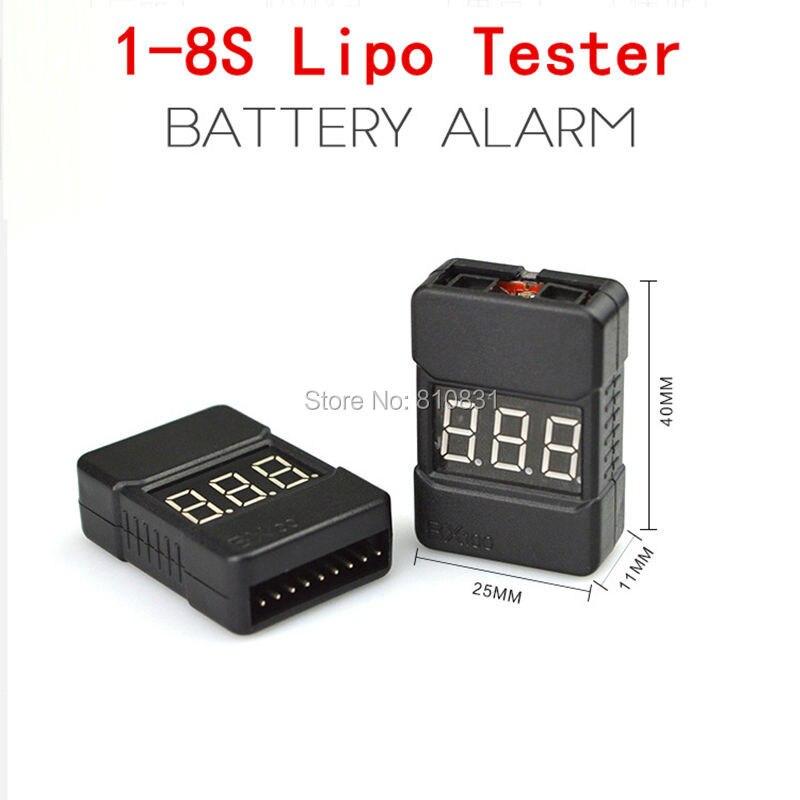 Тестер напряжения Lipo для батарей BX100 1-8 S, 4 шт., сигнал тревоги низкого напряжения, проверки напряжения батареи с двумя динамиками