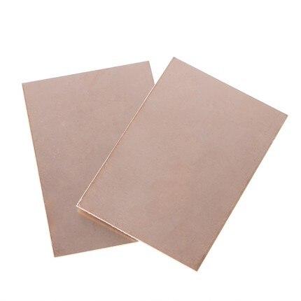 5 unids/lote FR4 PCB 7x10cm 7*10 Placa revestida de cobre de un solo lado DIY PCB Kit placa de circuito laminado en Stock