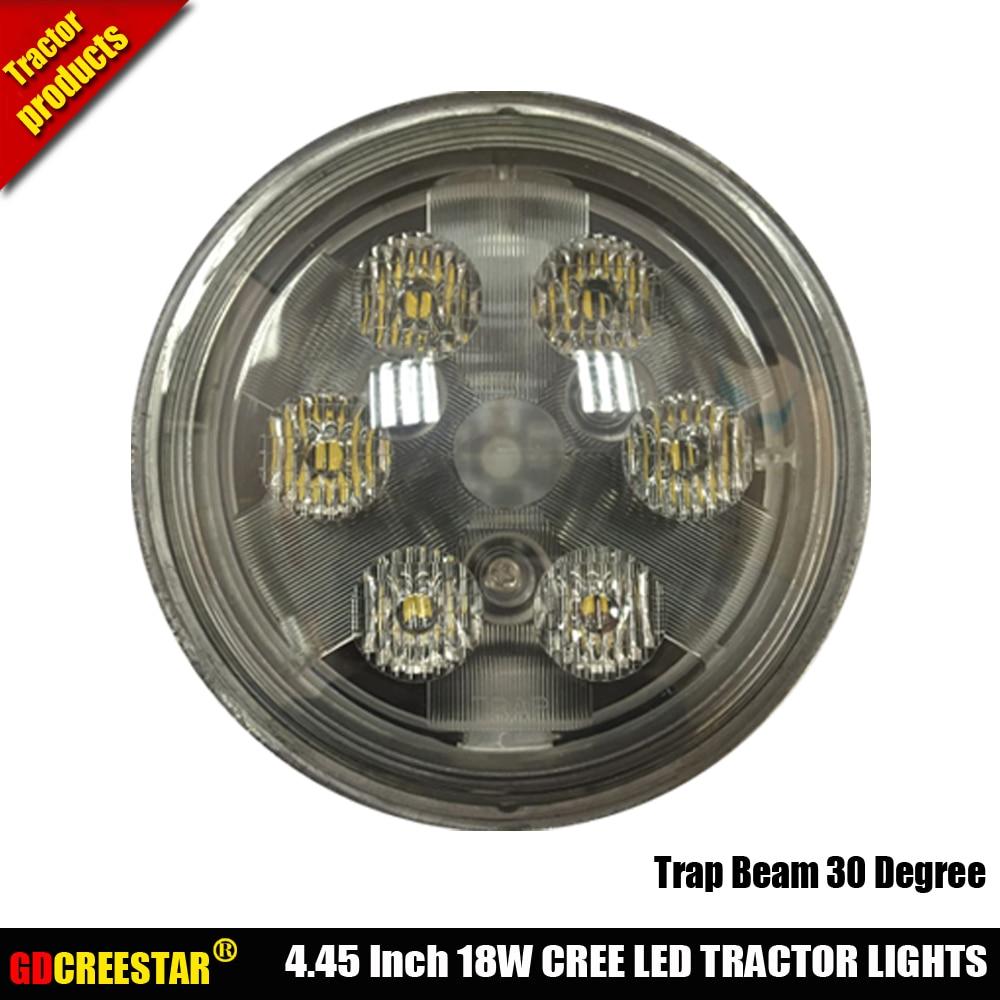 Luces Led redondas para Tractor de 4,5 pulgadas, 18W, PAR36, 12V, 24V, para Tractor, excavadoras, montacargas, autobuses, cosechadoras, deportes de potencia, ferrocarril x1pc