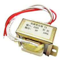 EI48 10 W 220 v-9 v transformatory wejście 220 v 50Hz napięcie wyjściowe 9 v pojedynczy 10VA mocy transformator