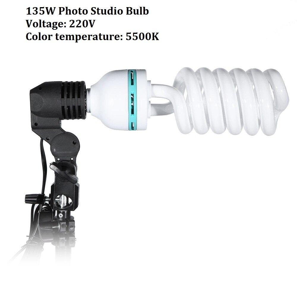 Лампа Lightdow E27 220V 5500K 135W для фотостудии, 1 шт.