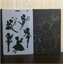 ENO modèle de dessin féerique bricolage   Voeux, pochoir de dessin, feuille de modèle en plastique, pochoir de dessin pour enfants