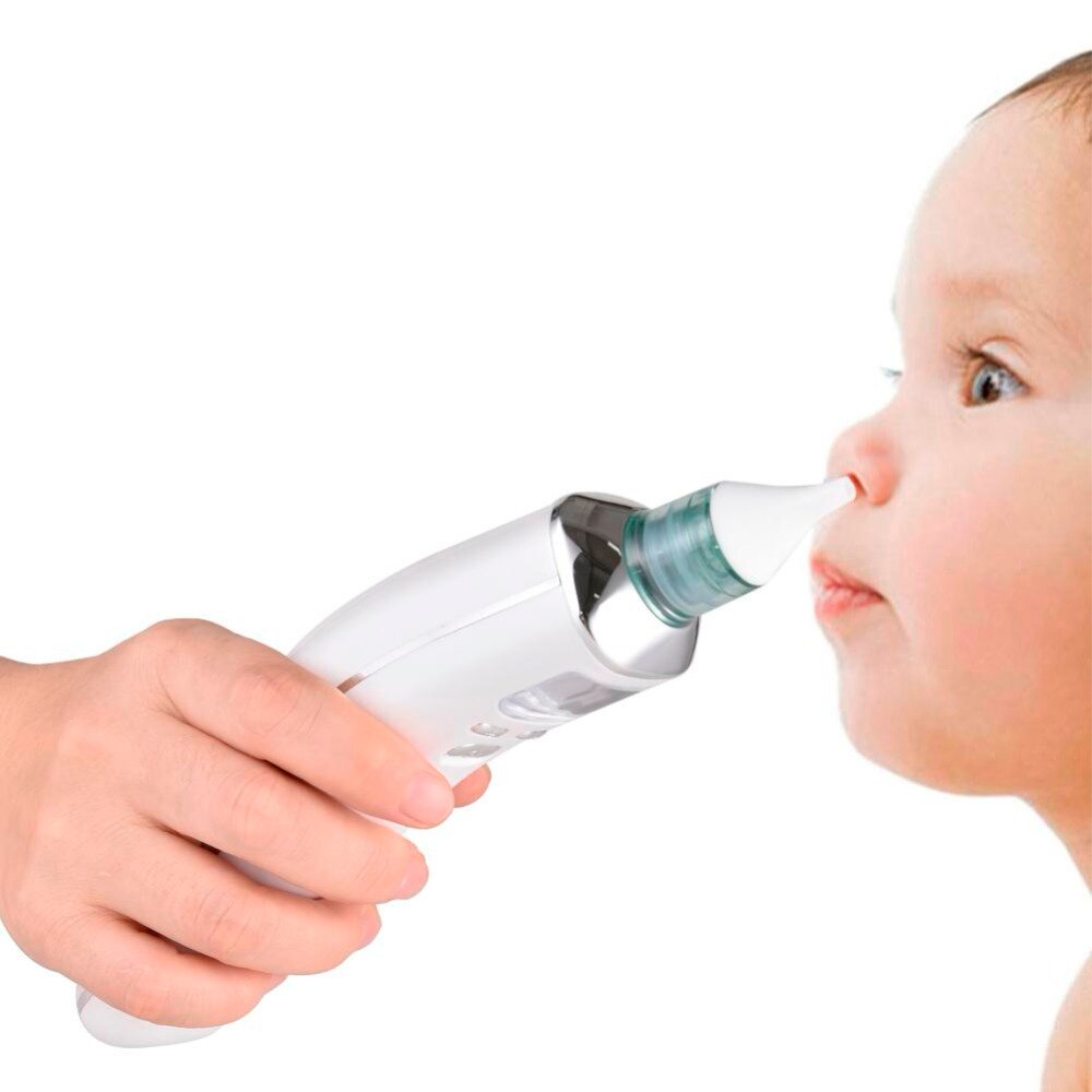 Baby Nasal Aspirator Electric Safe Hygienic Nose Cleaner Silicone Nose Tips Nasal Anti-Backflow Equipment Newborns Boys Girls