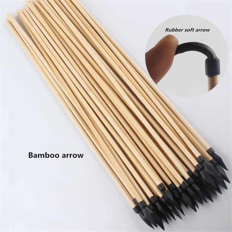 15 Uds. Flecha de madera natural diámetro 7mm longitud 50cm con Flecha de goma suave arco y flecha tiro con arco de madera flecha especial