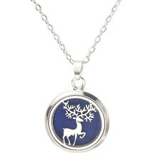 Beautiful Elk Aroma Box Pendant Necklace Magnetic Aromatherapy Essential Oil Diffuser Perfume Box Lo