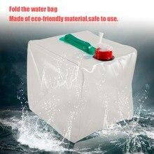 Le Double PVC pliable portatif de sac de stockage de leau 20L manipule les sacs transparents de récipient de leau de grande capacité superbe