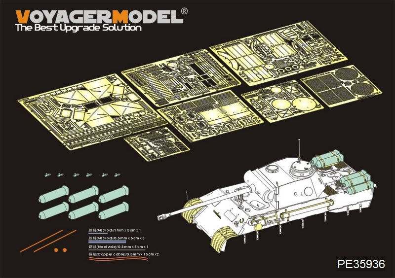 "Tanques de combustible básicos de la Segunda Guerra Mundial Pantera alemana D w/""Stadtgas"" (para MENG TS-038) modelo voyager 1/35"