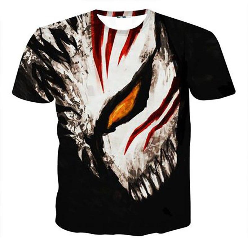 Футболка с коротким рукавом Bleach Мужская 3d футболка, летняя повседневная футболка для мальчиков и девочек