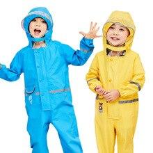 Manteau imperméable une pièce pour enfants de 2-8 ans   Combinaison imperméable une pièce pour garçons et filles, manteau de dessin animé à capuche, costume imperméable épais