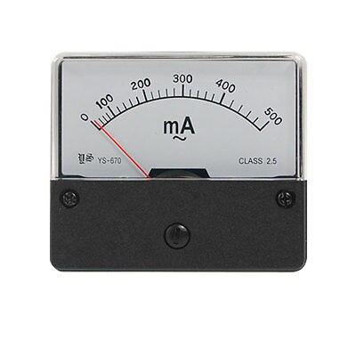 CA 500mA Panel Rectangular medidor analógico amperímetro YS-670