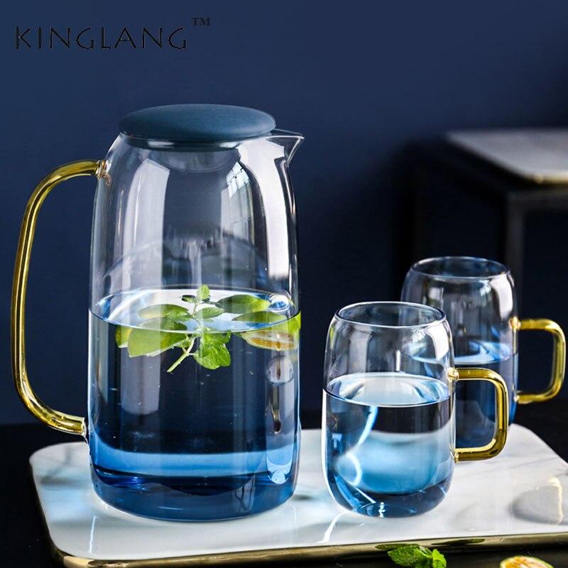 Стеклянный холодный чайник бытовой термостойкий высокотемпературный взрывозащищенный холодный чайник холодный большой емкости чайник