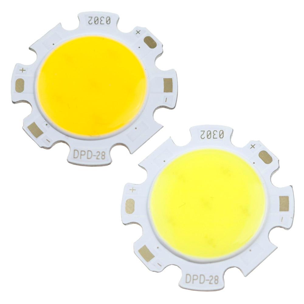 10 Uds./50 Uds./100 Uds. 3W 5W 7W 10W 12W COB fuente de luz LED COB para lámparas bombilla foco KQ