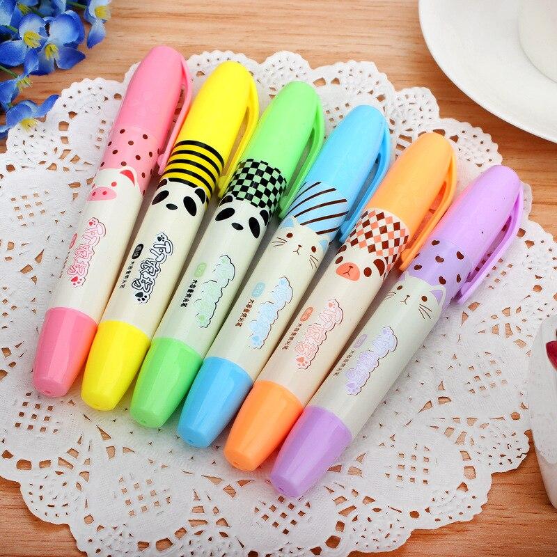 Gran capacidad de rotulador subrayador de Color estudiante marcado Scribble Pen Promarker...