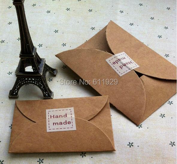 Envío Gratis invitación retro en blanco/sobre de papel kraft 115x8 8mm/caja de embalaje de regalo/sobre de embalaje de tarjeta/etiquetas 50 Uds por lote