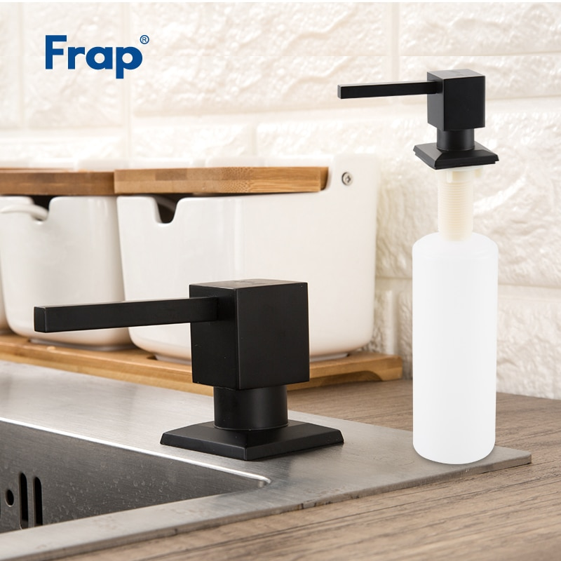 FRAP-موزع صابون سائل من الفولاذ المقاوم للصدأ ، جهاز موزعات مربعة مثبتة على سطح السفينة ، Y35030
