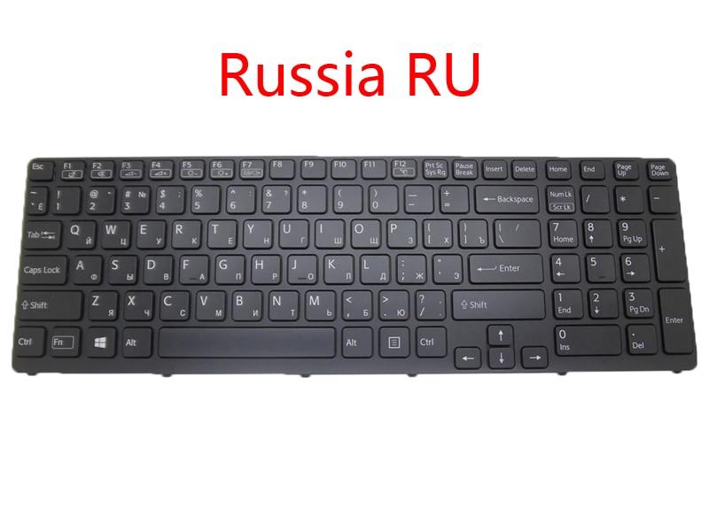Teclado retroiluminado para ordenador portátil RU SP AR GK IT GR para Sony para VAIO SVE151 serie SVE17 Arabia Rusia Grecia Italia Alemania español nuevo