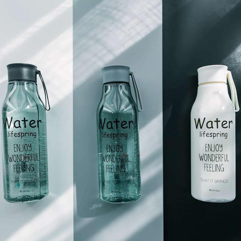 Летние бутылки для воды для кемпинга, для здоровья, лимонный сок, молочная бутылка для воды для спорта на открытом воздухе, для велоспорта, 520...