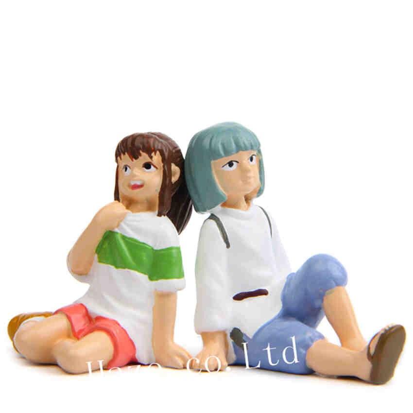 Anime spirited afastado chihiro haku resina figuras estatueta modelo de brinquedo estátua