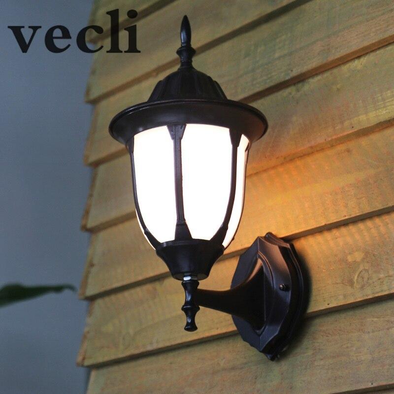 Европейская наружная настенная лампа, водонепроницаемые садовые светильники, ретро креативное акриловое освещение для ограждения