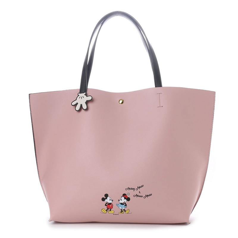 New Disney Fashion Printing Mickey Minnie Multifunction Mummy Bag Outdoor Shopping Large Capacity Baby Handbag Big Shopping Bag