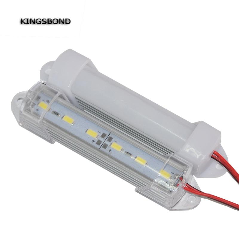 5 шт., 10 см, 12 в пост. Тока, Короткие мини светодиодные панели 5630 с крышкой для ПК, 6 светодиодов, мини светодиодные жесткие лампы 1,5 Вт, жесткие ленты для шкафа