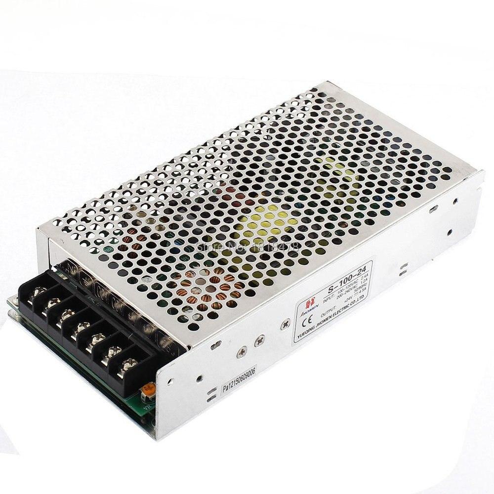 Convertidor de fuente de alimentación de interruptor S-100-24 AC 100 V/120 V 2.4A para tira de luces LED 100W