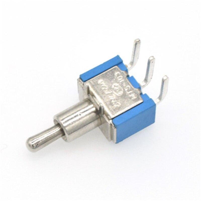 10 piezas MTS-102C3 patas curvas interruptor basculante interruptor 3 pies
