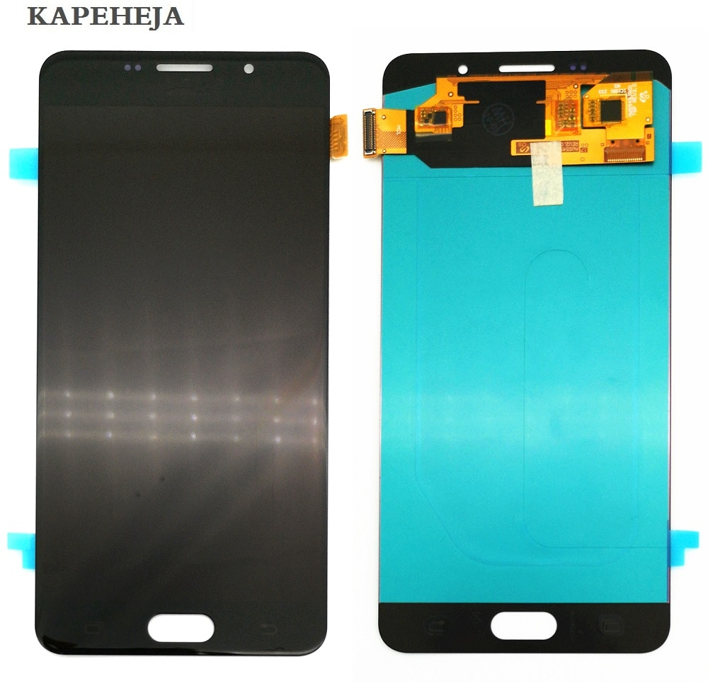 مجموعة شاشة LCD تعمل باللمس Super AMOLED ، لهاتف Samsung Galaxy A7 2016 A710 A7100 A710F A710M