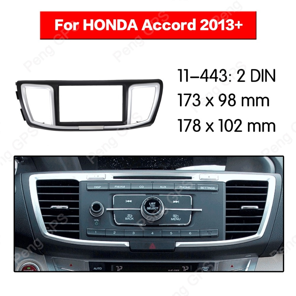2 din auto Radio estéreo de Fascia de instalación para HONDA Accord 2013 + PVC montaje en panel biselado ajuste CD reproductor de DVD de dash