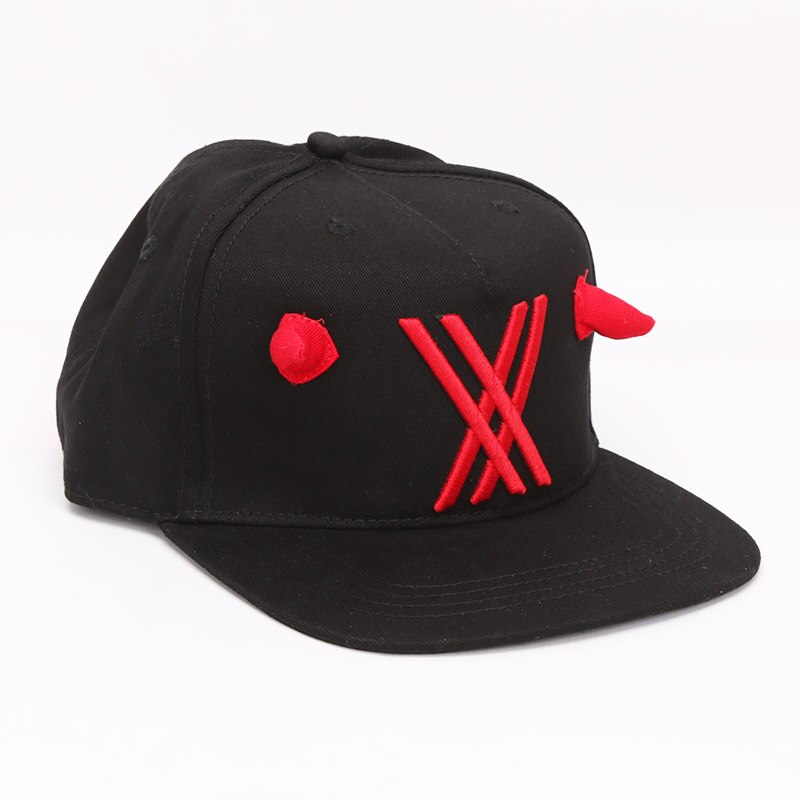 Anime Darling in the franxx Zero Two 02 sombrero béisbol Snapback sombreros franxx 002 sombrero para Cosplay juguetes de peluche