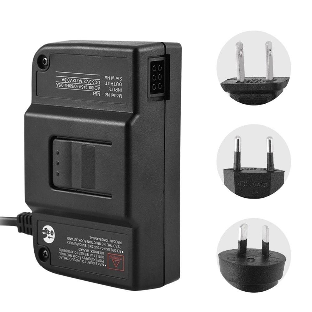 SOONHUA haute qualité noir remplacement AC adaptateur secteur chargeur cordon spécialement conçu pour Nintendo N64 avec prise US EU AU