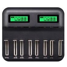 8 fentes Lcd affichage Usb chargeur de batterie intelligent pour Aa Aaa Sc C D taille batterie Rechargeable 1.2V Ni-Mh ni-cd chargeur rapide chaud
