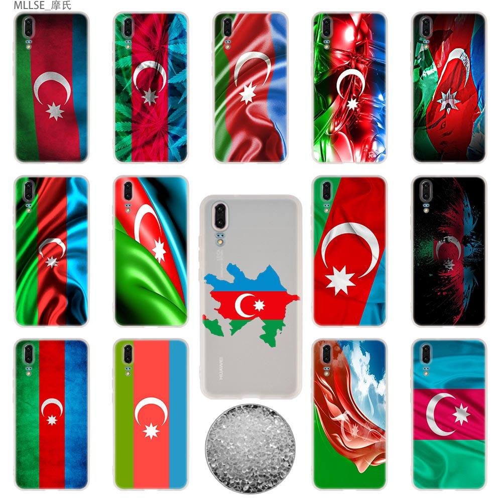 Fundas blandas de TPU para Huawei P40 P30 P20 pro P10 Plus P9 P8 lite 2017 samrt Z 2019 Bandera de Azerbaijan bandera personalizada