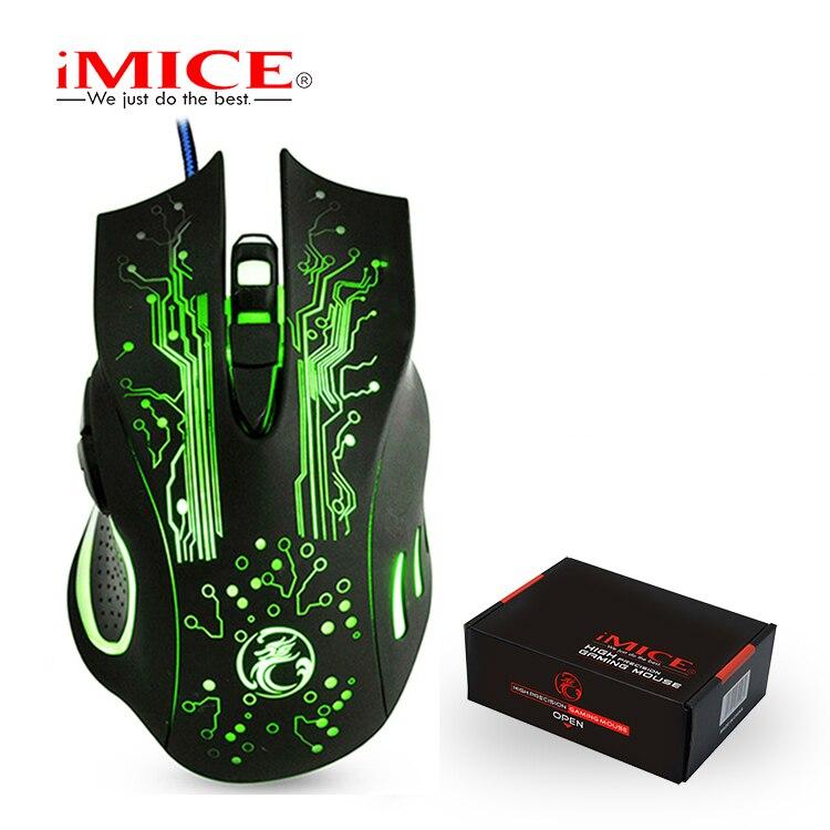 Игровая мышь iMice, Проводная компьютерная мышь, USB тихий геймер, мыши 5000 dpi для ПК Mause, 6 кнопок, эргономичная Волшебная игровая мышь X9 для ноутбука