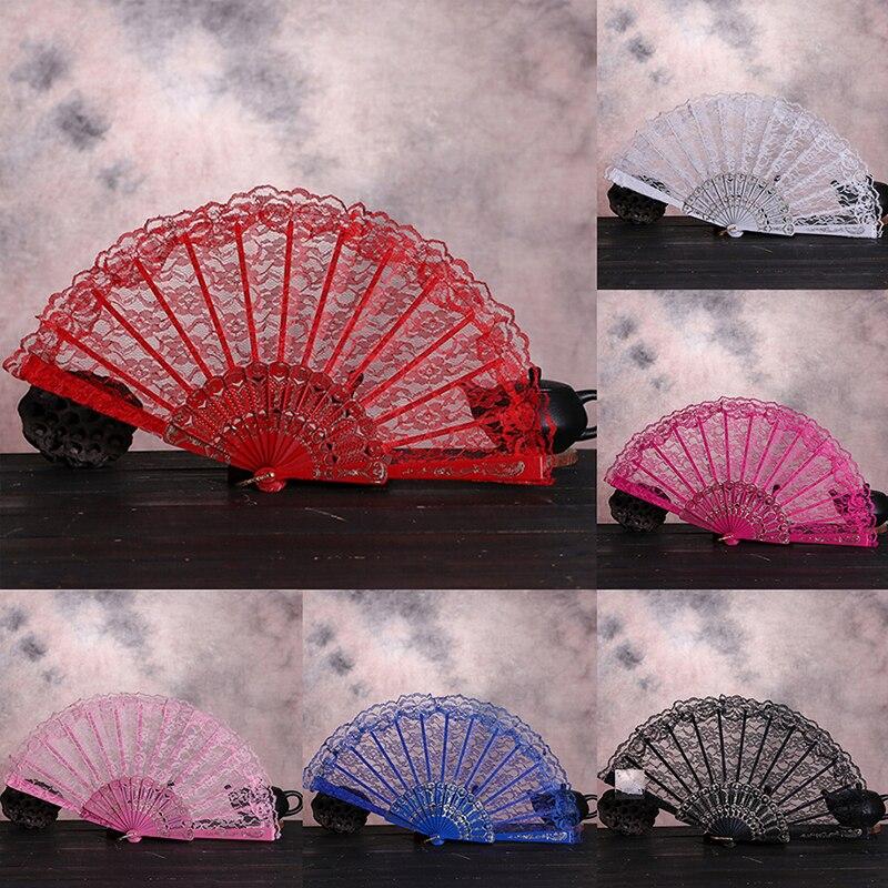 Abanico Plegable de estilo chino Vintage con flores, abanico de mano de...