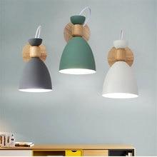 Lampe murale en bois massif, personnalité simple, créative nordique, en bois massif, escalier du salon, oreiller de lhôtel, lampe de chevet de la chambre