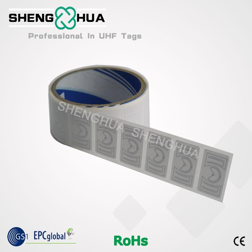 2000 piezas/rollo alienígena H3 en blanco RFID pasivo seguridad etiqueta CE RoHS EPC Global 1,41*0,87 pulgadas RFID UHF etiqueta engomada