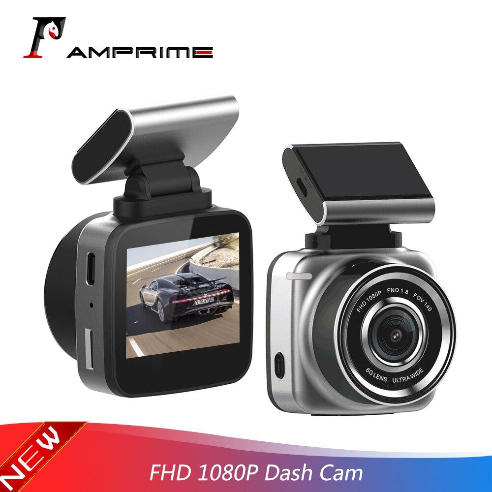 Amprime 2.0 auto auto câmera dvr do carro automático traço cam registrador de vídeo gravador completo hd 1080 p g-sensor ciclo gravação dashcam filmadora