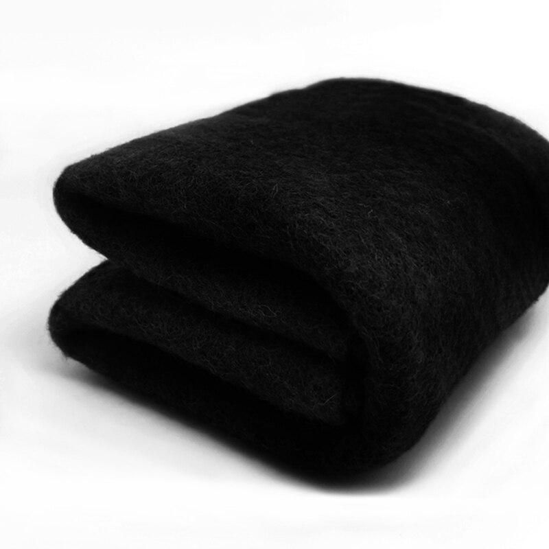 Бесплатная доставка шерсть Batt/полу-валяние шерсть для войлока иглы, валяния иглы, прядильное волокно, фото реквизит черный
