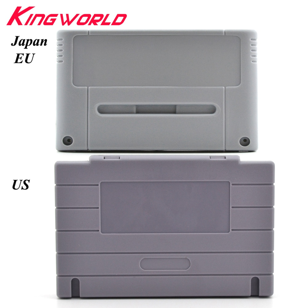 16bit Game Cartridge Replacement Plastic card Shell for Nintendo For SNES game Console (US JP EU Version )