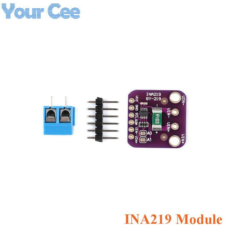 2 pc GY-219 INA219 Sensor Atual Módulo de Alimentação Módulo GY219 I2C interface Breakout Board Para Arduino Eletrônico PCB DIY DC